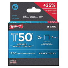 Arrow Fastener 506 Heavy Duty T50 Staples