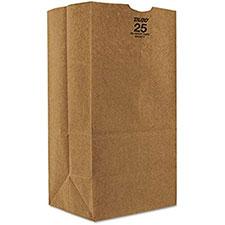 Duro Bag 25# Heavy Duty Bulwark Shorty Grocery Bag